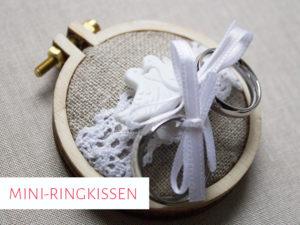 Ringkissen im Mini-Stickrahmen
