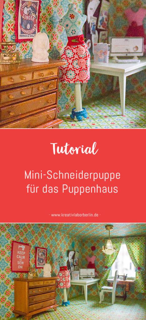 Mini-Schneiderpuppe für das Puppenhaus