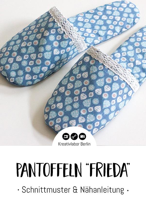Schnittmuster & Nähanleitung Pantoffeln Frieda