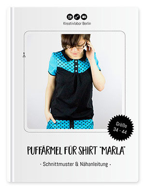 """Puffärmel und Gummi-Saumbund für Shirt """"Marla"""""""