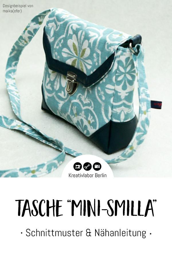 """Schnittmuster & Nähanleitung Tasche """"Mini- Smilla"""""""