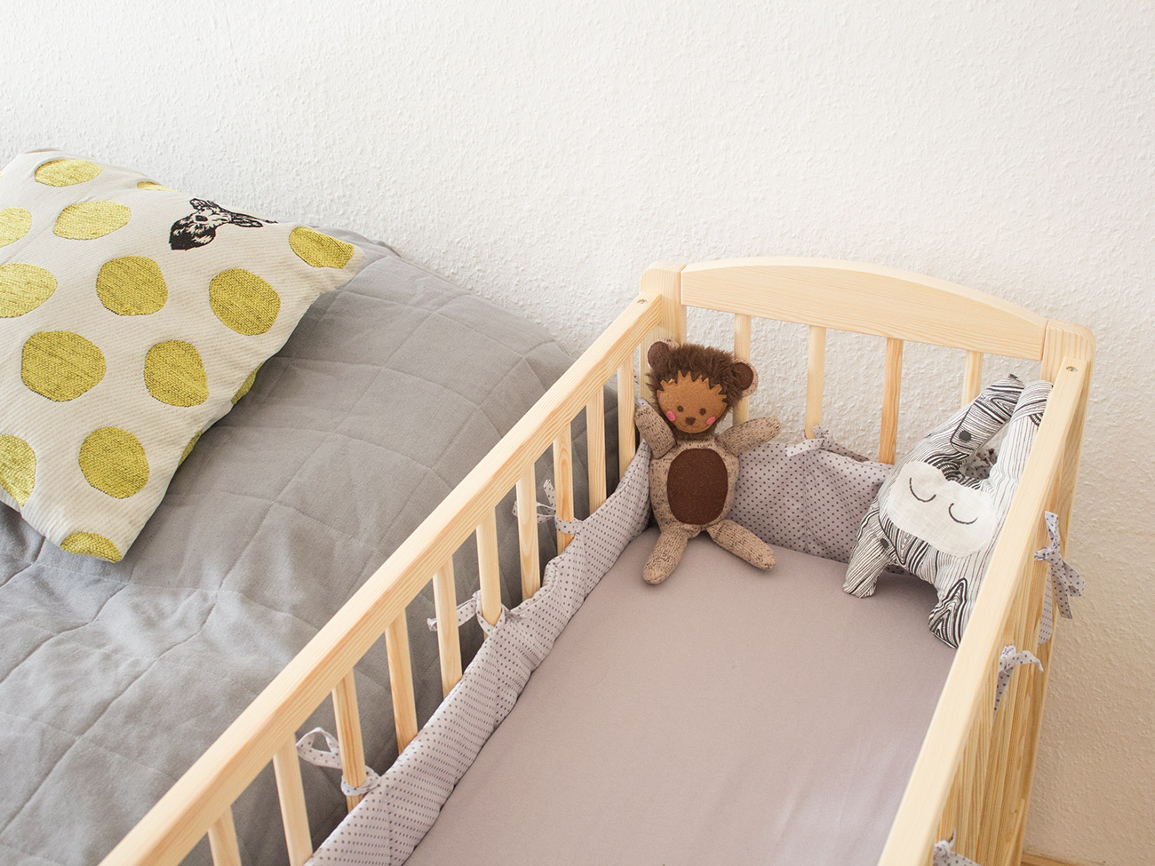 Nähanleitung bettnestchen bettlaken fürs babybett