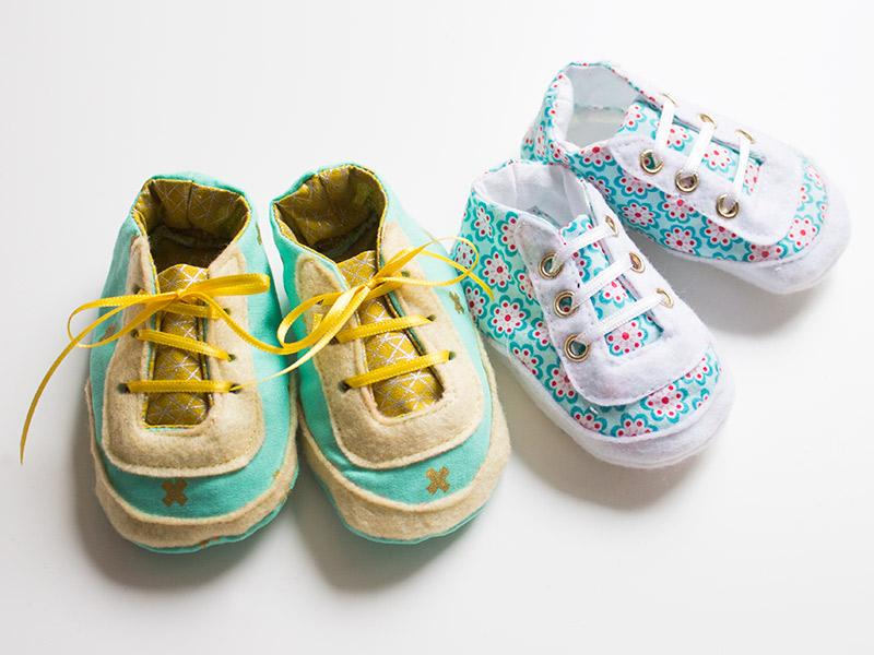 Süße Baby-Sneaker selber nähen