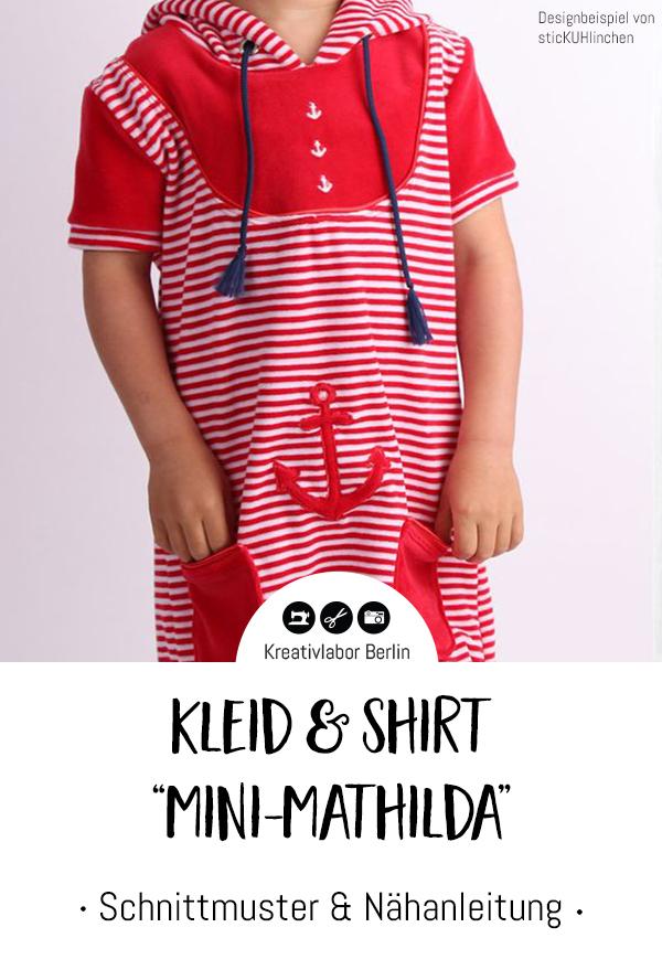 """Schnittmuster & Nähanleitung Kleid & Shirt """"Mini-Mathilda"""""""