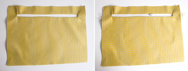 Nähanleitung: Versteckte Reißverschluss-Innentasche