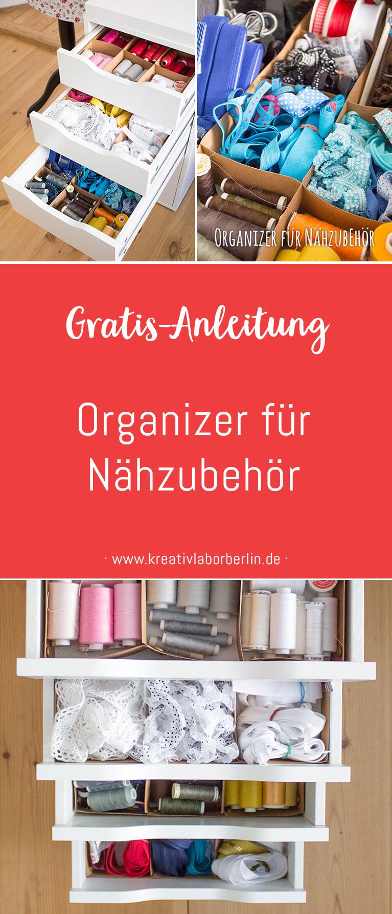 Kostenlose Anleitung Organizer für Nähzubehör