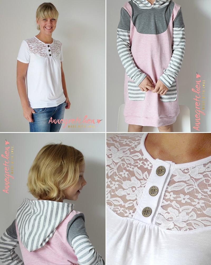 """Shirt """"Marla"""" und Kinderkleid """"Mathilda"""" genäht von Annegretchen"""