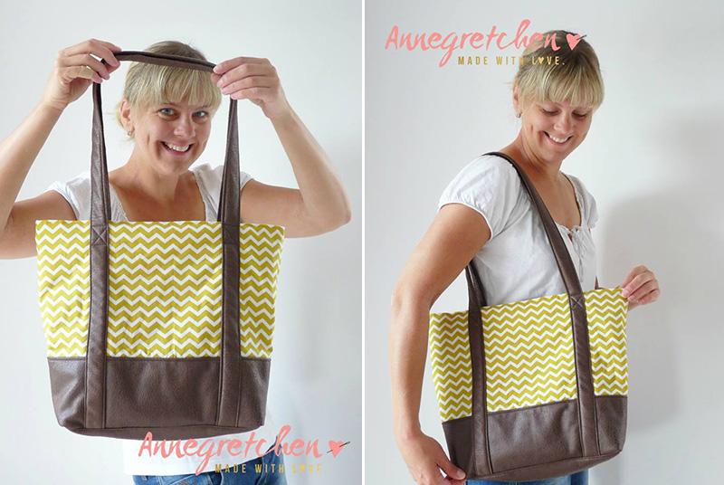 """Handtasche """"Svea"""" genäht von Annegretchen"""