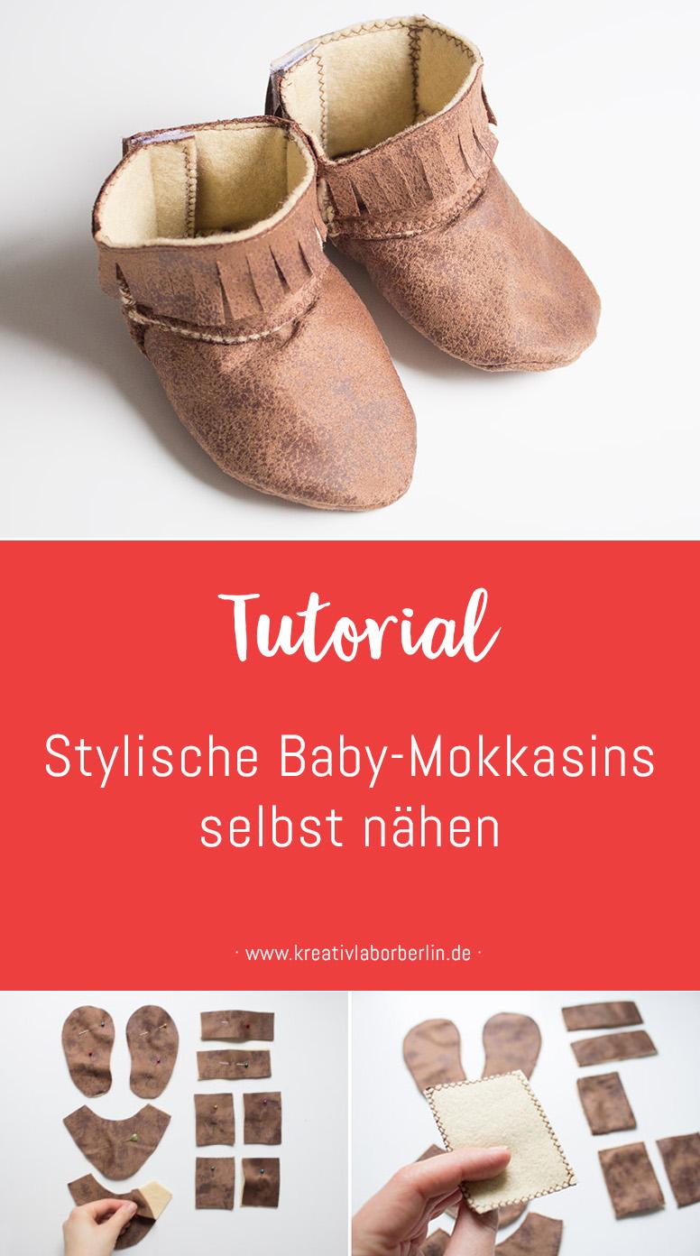 Stylische Baby-Mokkasins selbst nähen