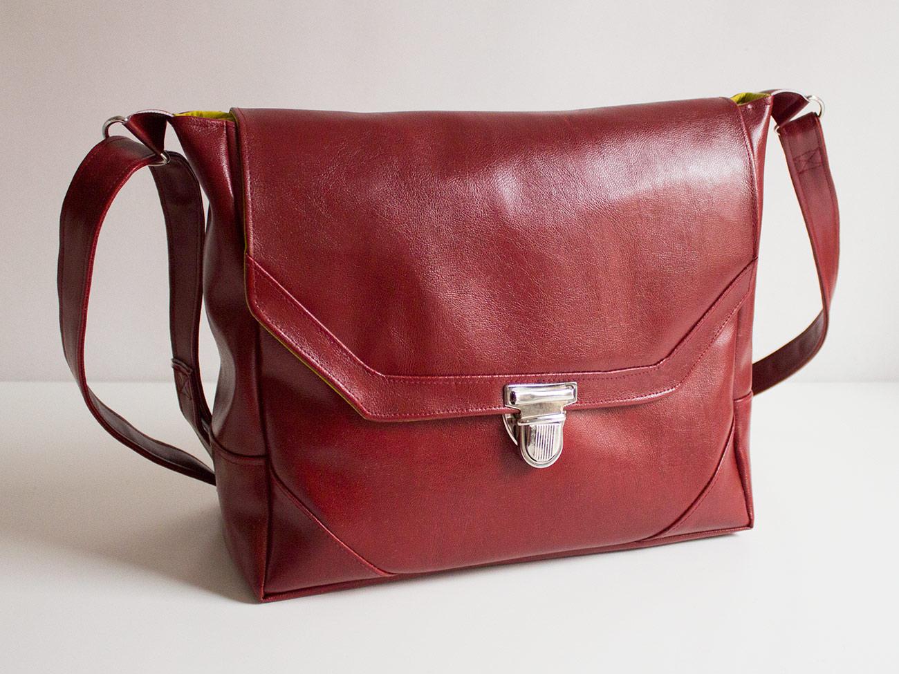 """Tutorial: Handtasche & Kameratasche """"Klein-Smilla"""" aus Kunstleder"""