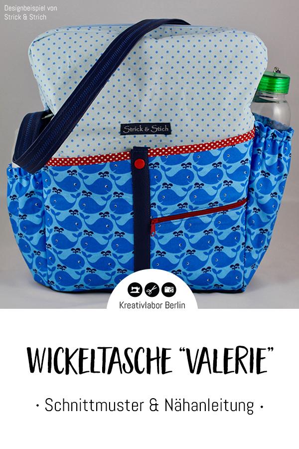 """Schnittmuster & Nähanleitung Wickeltasche """"Valerie"""""""