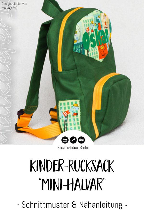 Neue Schnittmuster: Rucksack & Kinder-Rucksack - Kreativlabor Berlin