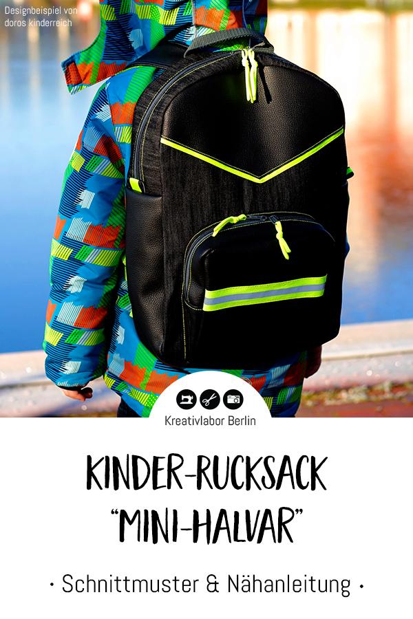 "Schnittmuster & Nähanleitung Kinder-Rucksack ""Mini-Halvar"""