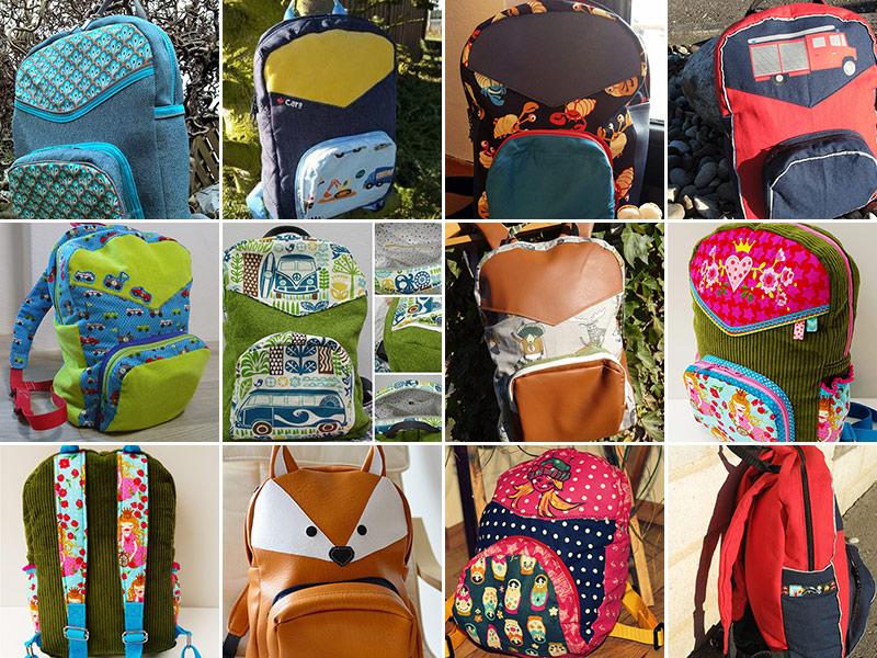 Neue Schnittmuster: Rucksack & Kinder-Rucksack