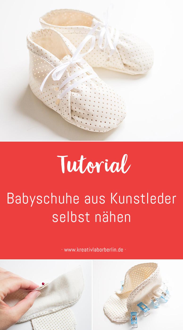 Babyschuhe aus Kunstleder selbst nähen | Kreativlabor Berlin