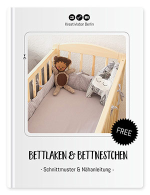 kostenlose n hanleitung bettnestchen bettlaken f rs babybett kreativlabor berlin. Black Bedroom Furniture Sets. Home Design Ideas
