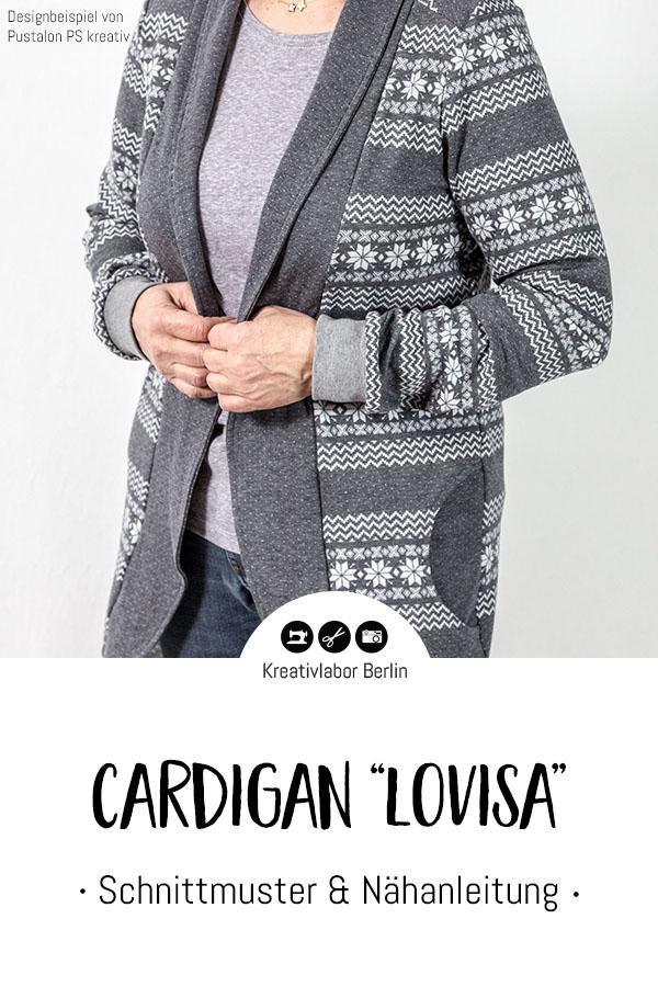 "Schnittmuster & Nähanleitung Cardigan ""Lovisa"""