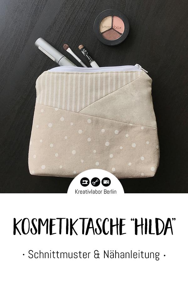 "Schnittmuster & Nähanleitung Kosmetiktasche ""Hilda"""