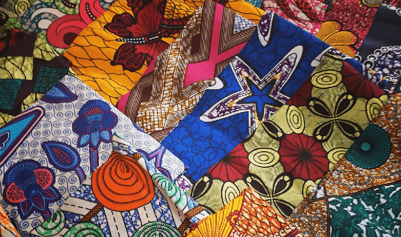 Afrikanische-Waxprint-Stoffe