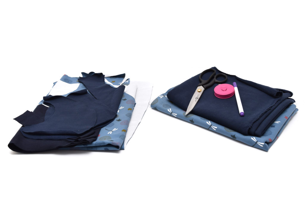 Nähanleitung: Pullover Ida mit zweifarbigem Kragen