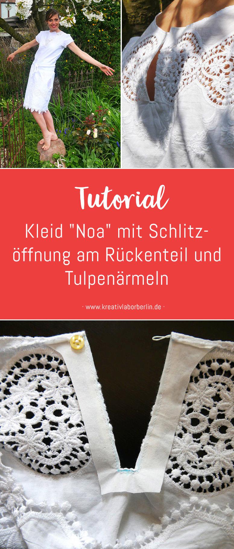 """Nähanleitung: Kleid """"Noa"""" mit Schlitzöffnung am Rückenteil & Tulpenärmeln"""