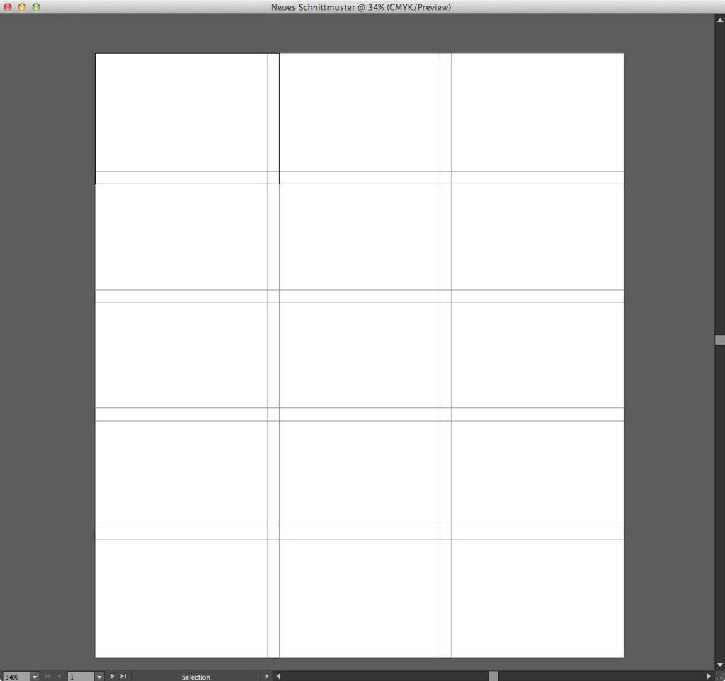 Große Schnittmuster in A4-Seiten aufteilen