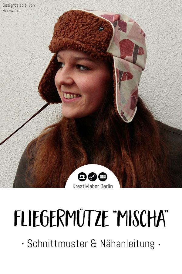 """Schnittmuster & Nähanleitung Fliegermütze """"Mischa"""" für Erwachsene & Kinder"""