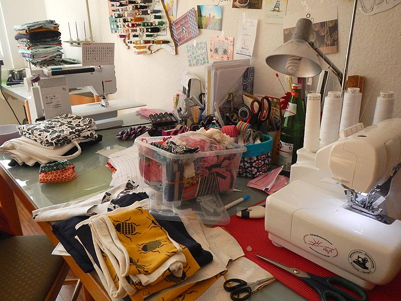 Kreatives Chaos: Im Nähzimmer von Sabrina (Sunmeetsstar)