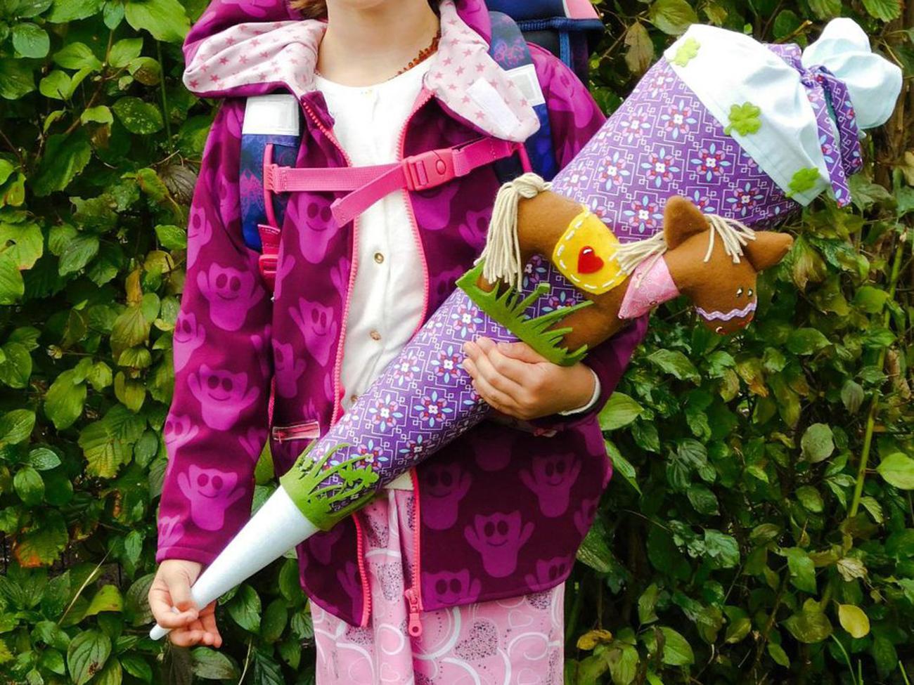 Kleid & Schultüte für den Schulanfang nähen