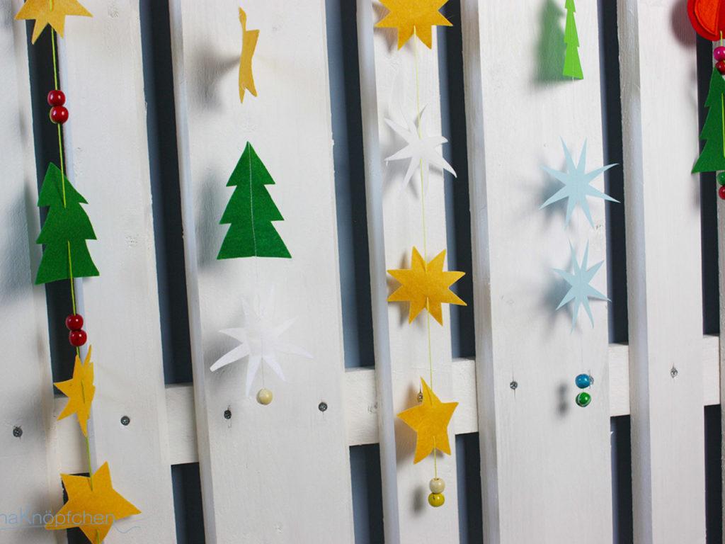 DIY-Anleitung: Weihnachtskette aus Filz