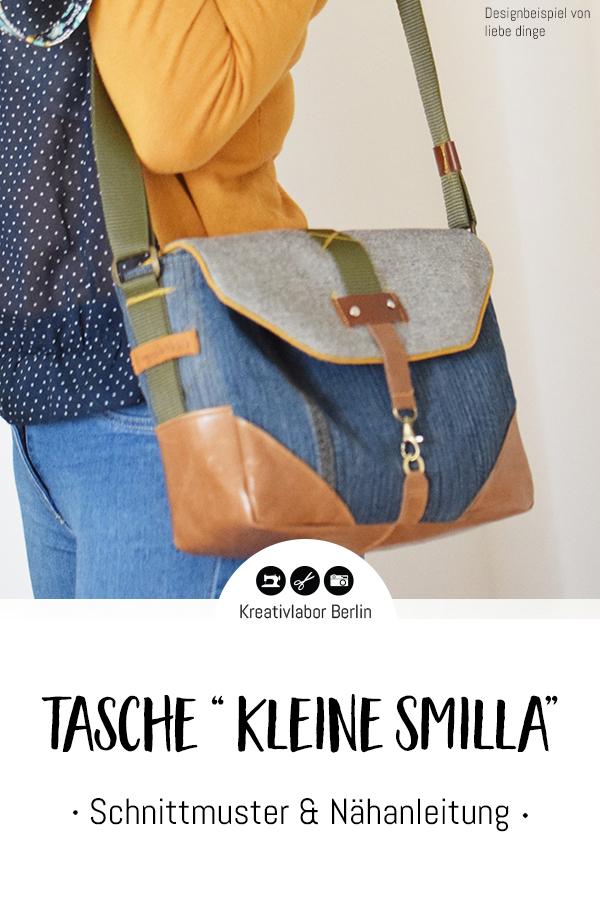 """Schnittmuster & Nähanleitung Tasche """"Kleine Smilla"""""""