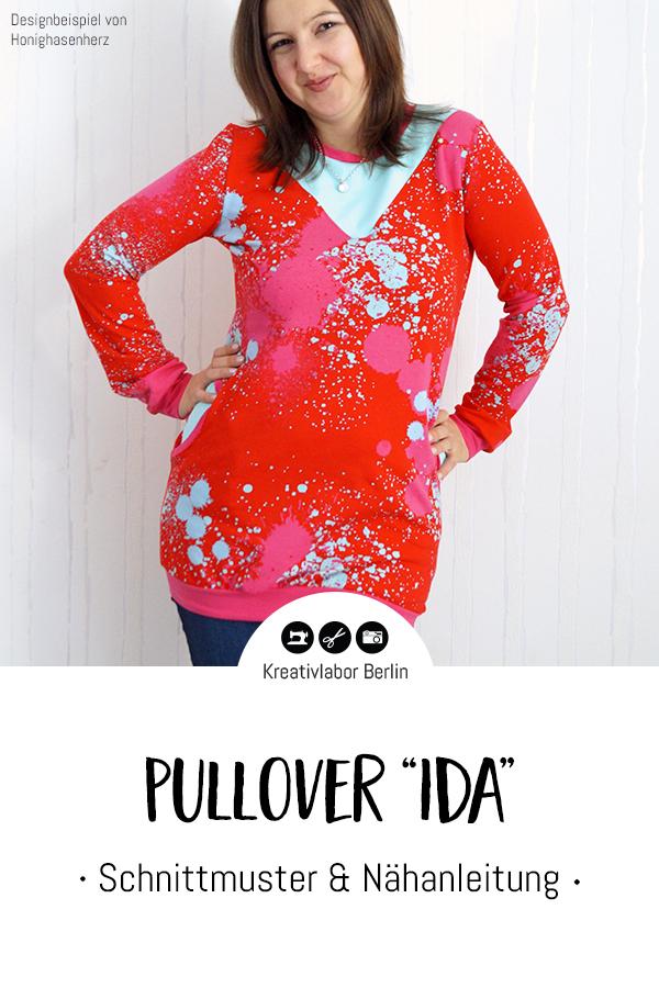 """Schnittmuster & Nähanleitung Pullover """"Ida"""""""
