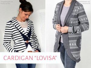 "Cardigan ""Lovisa"" in zwei Längen"