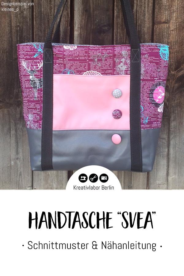 """Schnittmuster & Nähanleitung Handtasche """"Svea"""""""