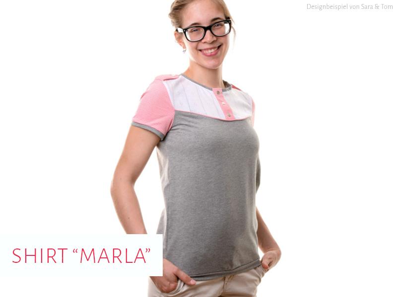 """Shirt """"Marla"""" genäht von Sara & Tom"""