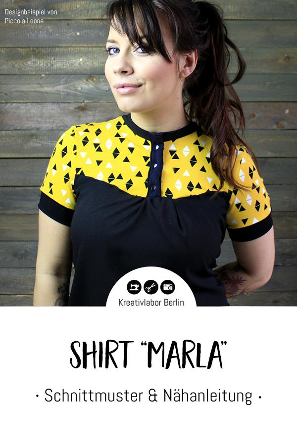 """Schnittmuster & Nähanleitung Shirt """"Marla"""""""