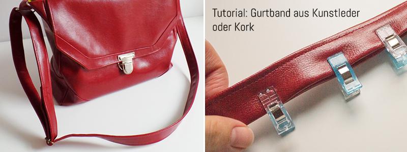 Tutorial: Gurtband aus Kunstleder / Kork selbst nähen