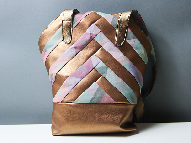Neues Schnittmuster: Patchwork-Tasche \