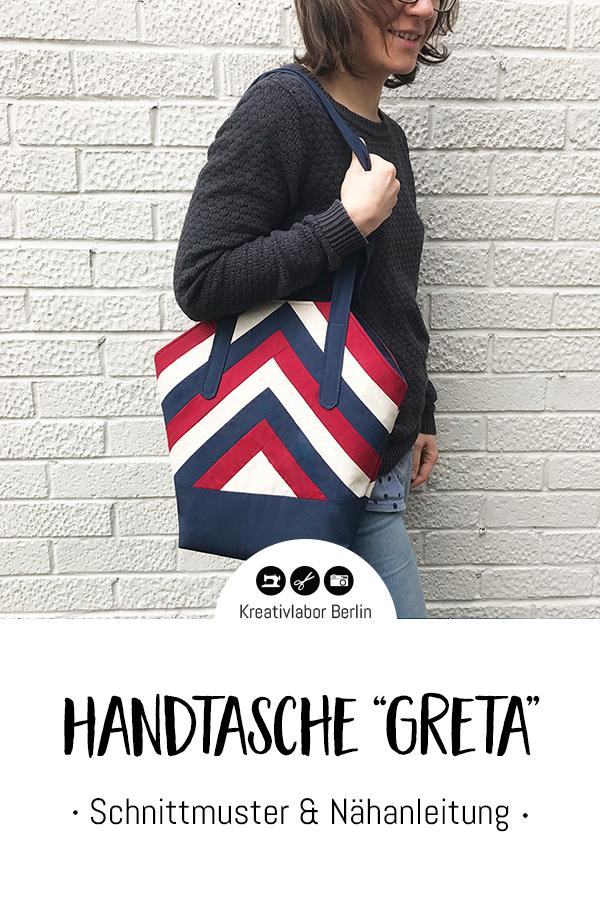 """Schnittmuster & Nähanleitung Handtasche """"Greta"""""""
