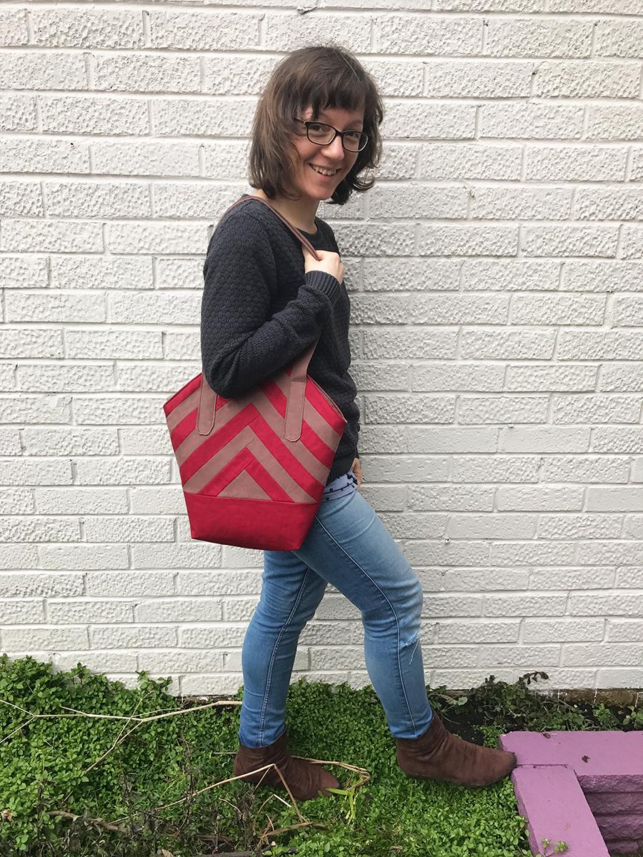 """Meine Handtasche """"Greta"""" im Patchwork-Look"""