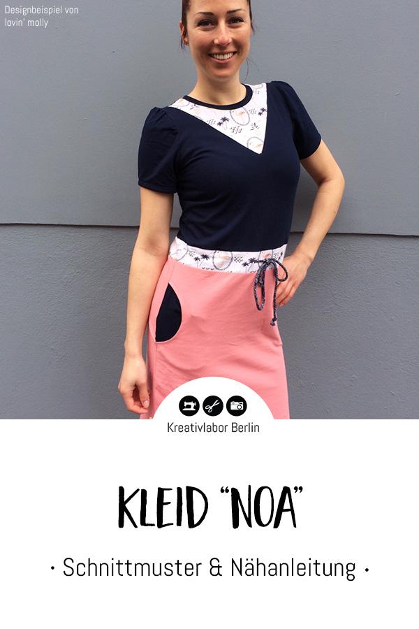"""Schnittmuster & Nähanleitung Kleid """"Noa"""""""