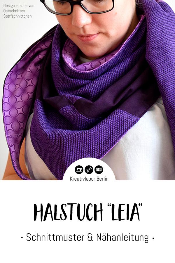 """Schnittmuster & Nähanleitung Halstuch """"Leia"""""""