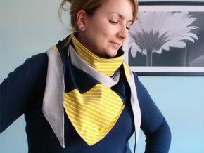 """Dreieckstuch """"Leia"""" genäht von knit.sew.wear.love"""