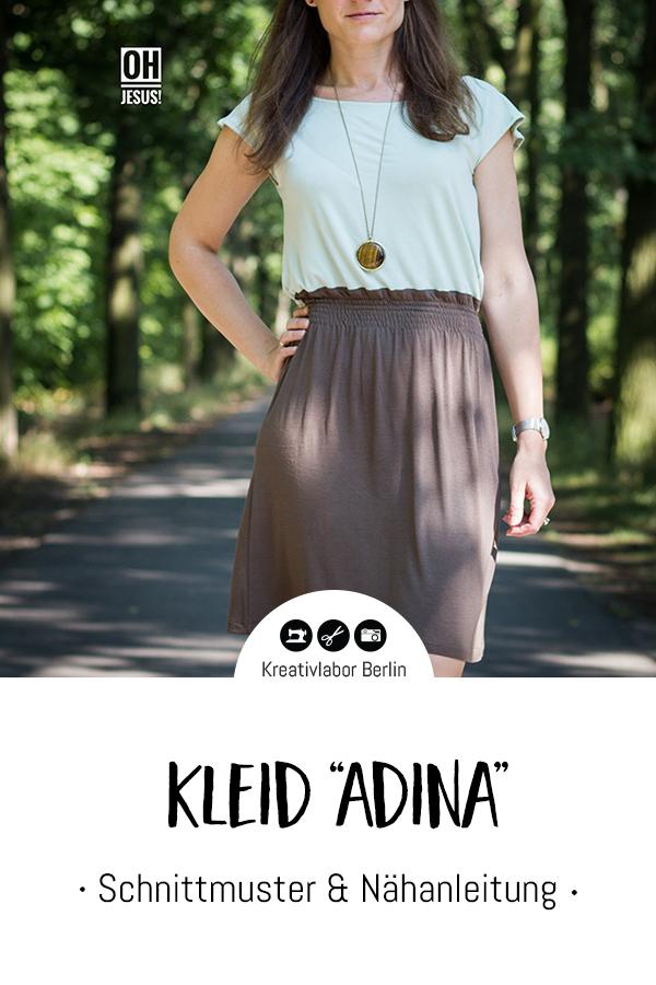 "Schnittmuster & Nähanleitung Kleid ""Adina"""