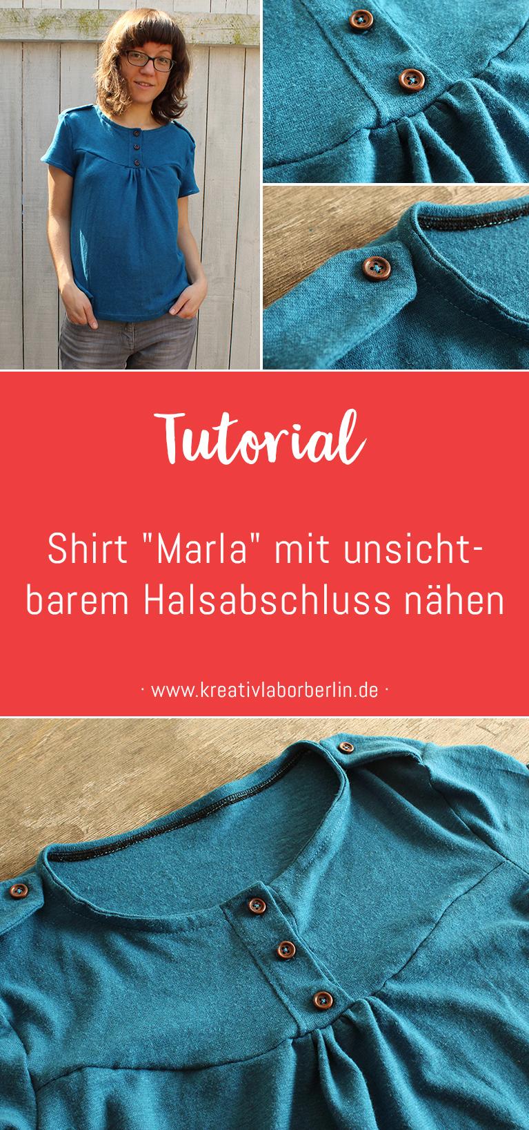 "Shirt ""Marla"" mit unsichtbarem Halsabschluss nähen"