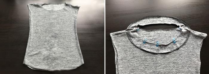 T-Shirt mit Hals- und Saumbeleg nähen