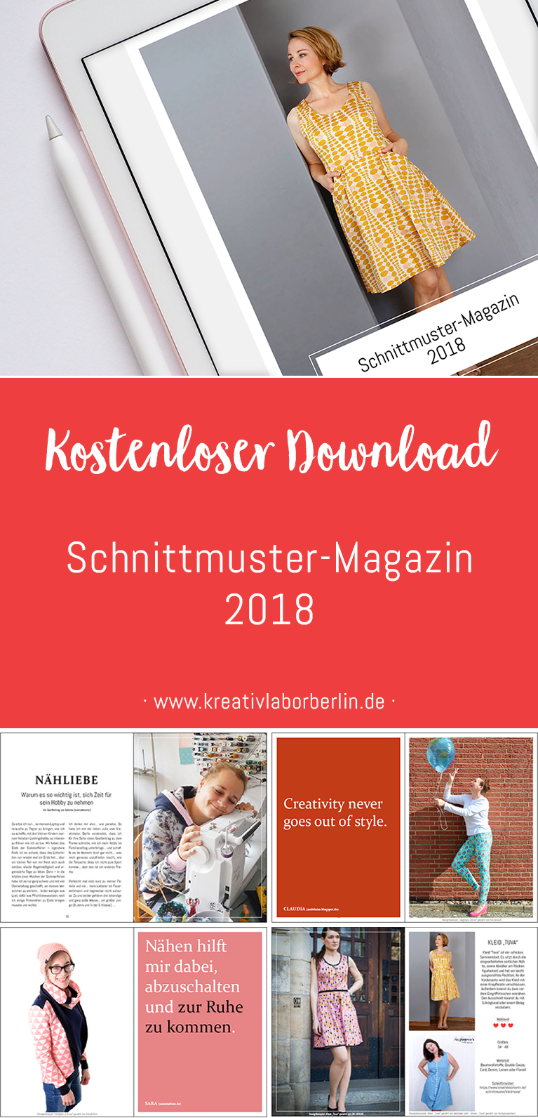 Das neue Schnittmuster-Magazin ist da! | Kreativlabor Berlin