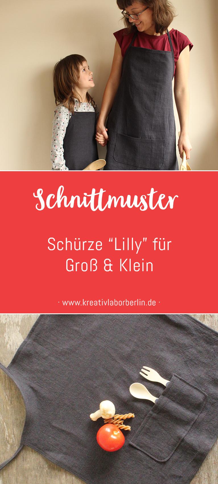 """Neues Schnittmuster: Schürze """"Lilly"""" für Groß & Klein"""