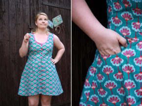 """Kleid """"Tuva"""" genäht von Frau von Nadel"""