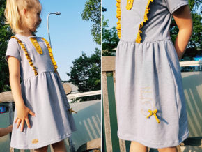 """Kinderkleid """"Mila"""" genäht von Lamika"""